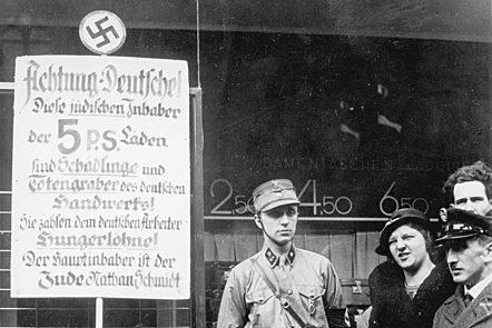 Nazi boycott day against the Jews, Berlin, Germany, April 1, 1933