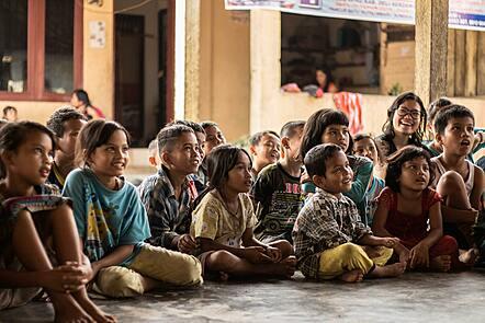 Indonesian children at school.