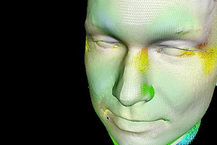 Face dataset using Scalismo