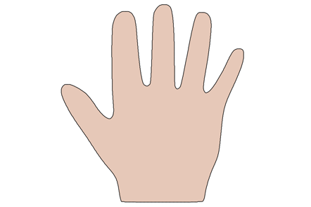Shape of a hand