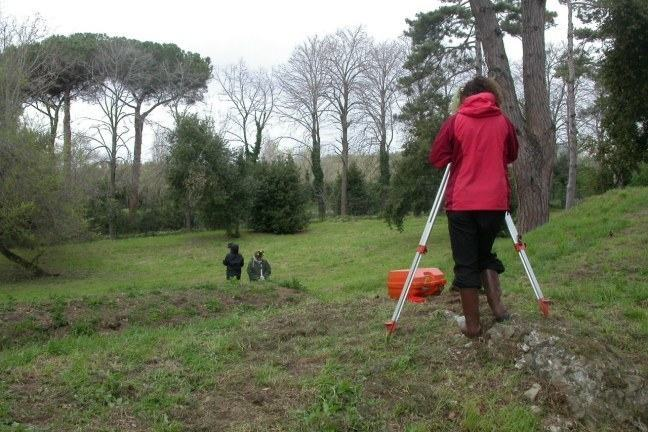 Pre-excavation survey at Portus - the amphitheatre was waiting to be discovered in the grassy hollow