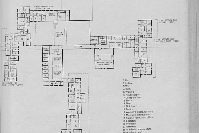 Ground Plan of Langwith College