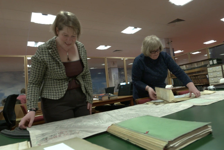 Looking at artifacts in a library archive