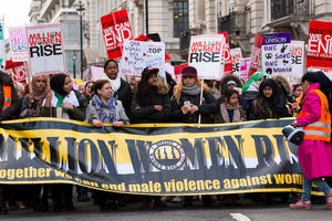 Image of women marching for women's rights