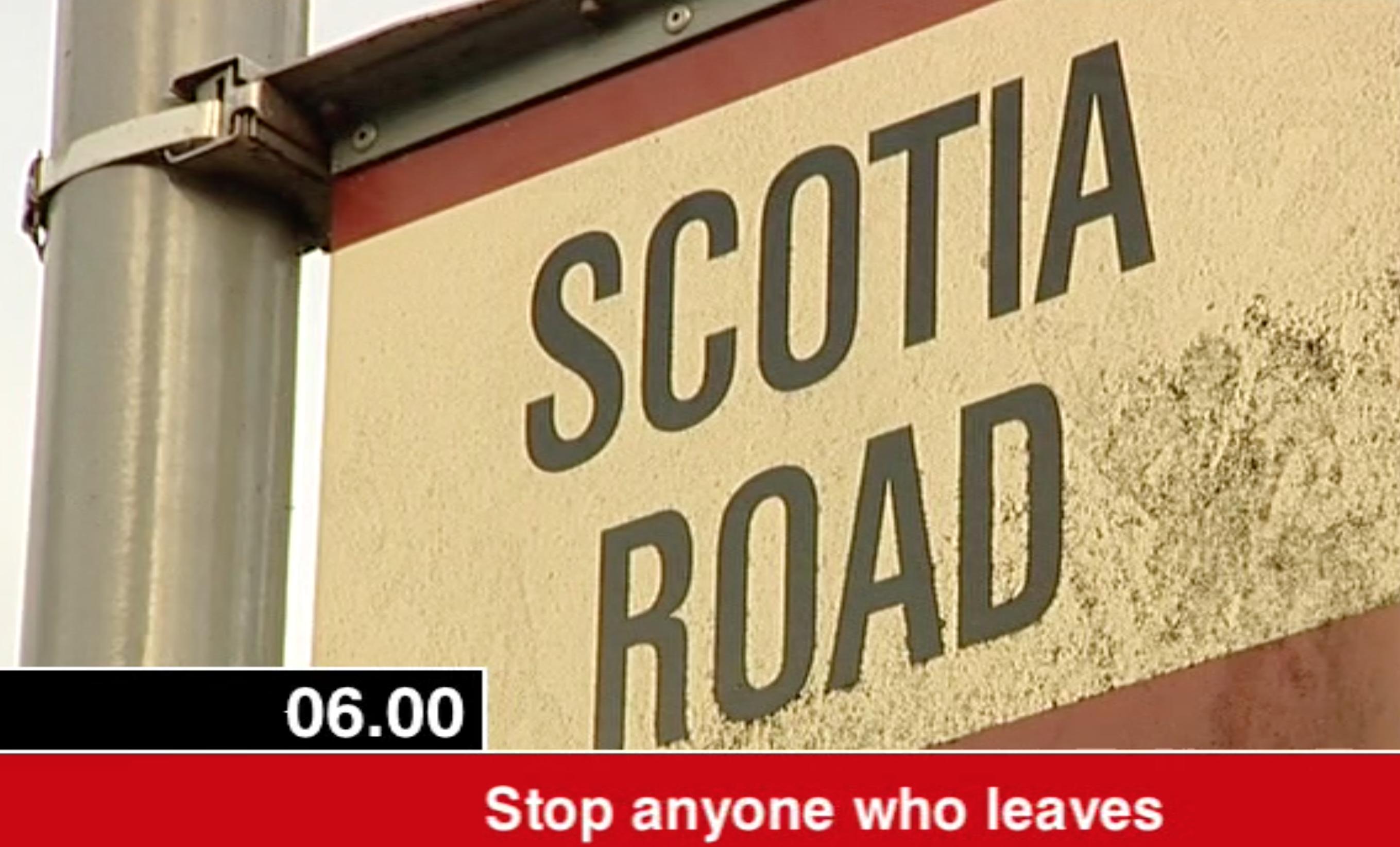 Scotia Road road sign