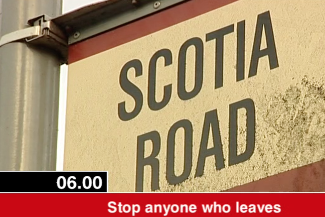 Scotia Road road sign