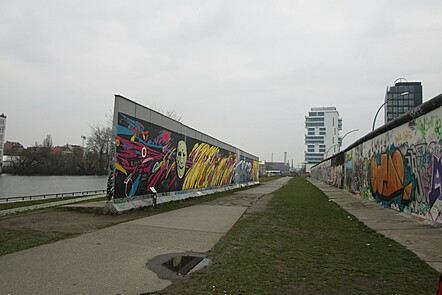 Picture of abandoned space and part of the Berlin Wall