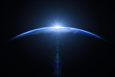 Image of sunrise over Earth