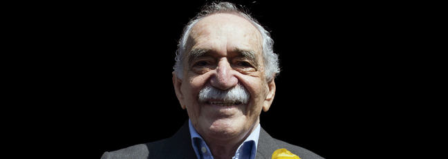Gabriel Garcia Marquez centred in a photographic portrait