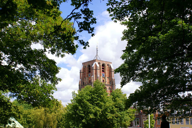 "The ""Oldehove"", a tower in Leeuwarden which leans more than the tower of Pisa."