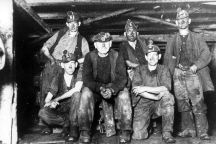 Photograph of miners