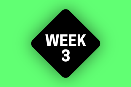 An icon that says WEEK 3 on a green background
