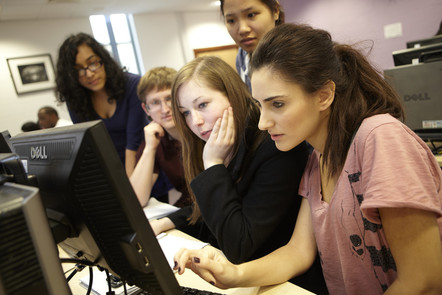 students looking at a screen