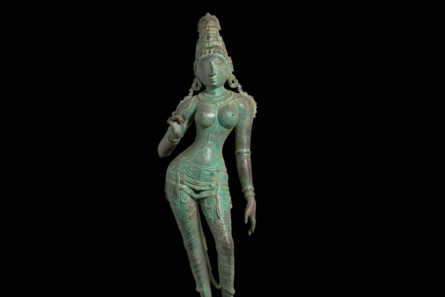A bronze chola statue recently returned to India