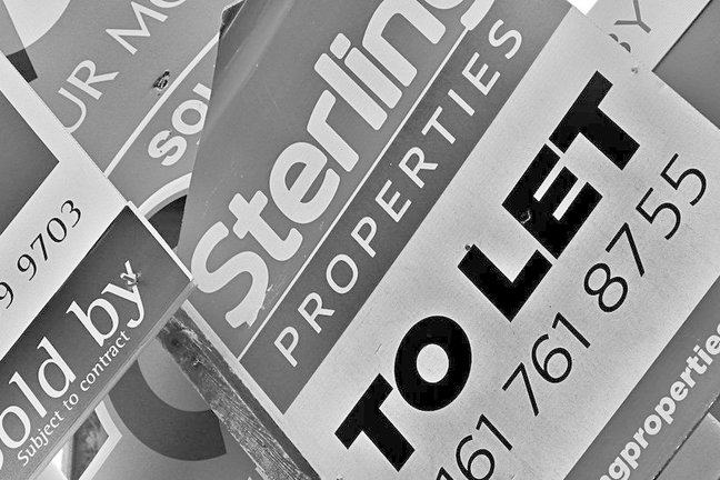 Property sale signs