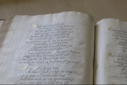 Photo of hand-written pages from the book of psalms by the Sidneys