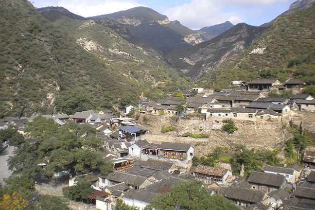 View of Cuandixia, Chinese historical village, 90 km from Beijing