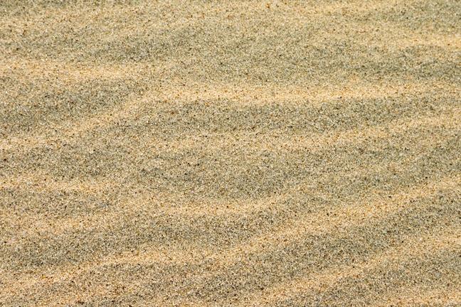 White sand illustrating silica dust