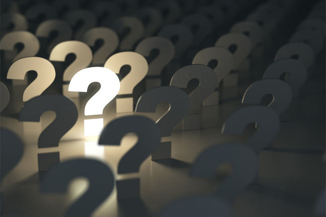 crowd of question marks