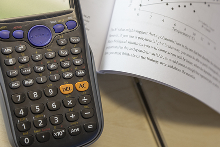 Calculator and textbook