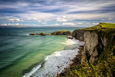 A picture of the Irish coast.