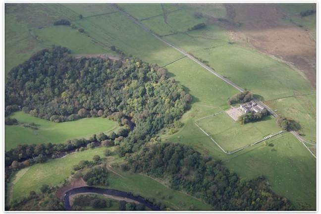 Birdoswald from the air.