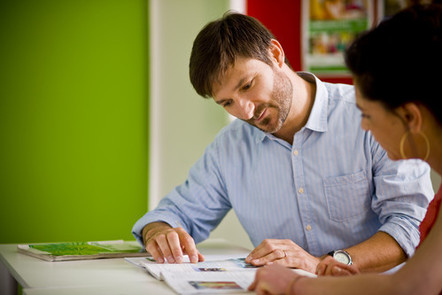 A teacher at work