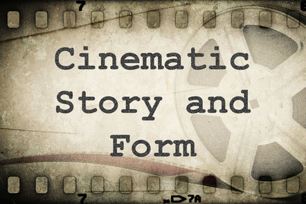 Film cell with title Cinematic Story and Form