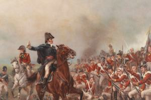 Wellington at the Battle of Waterloo