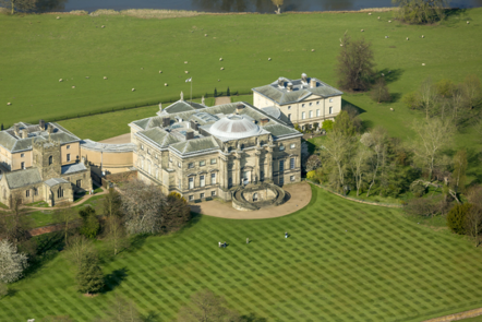 An aerial view of Kedleston Hall, Derbyshire