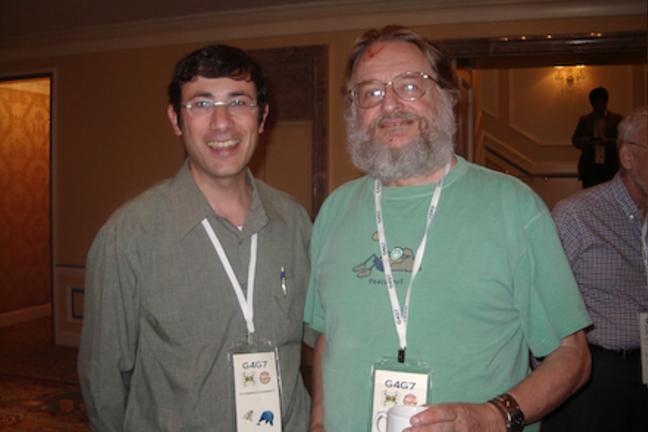 John Conway with Yossi Elran