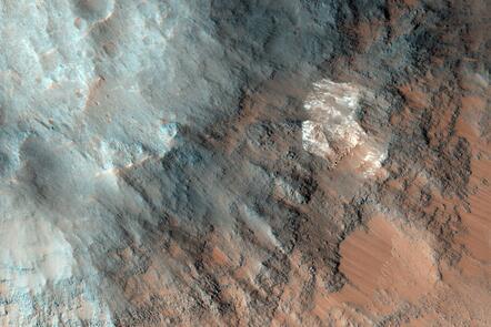 Surface of Mars captured by NASA Mars Reconnaissance Orbiter