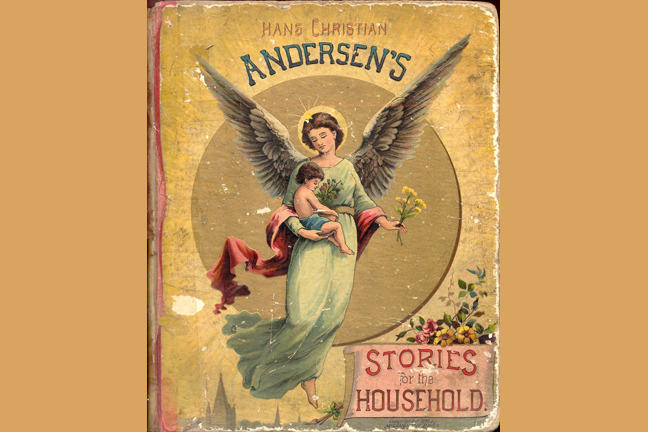 Image showing the cover of a book portraying an angel holding a small child