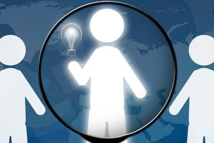 An image with a group of people and light bulb against the backdrop of a world map. This illustrates resourcing and talent management.
