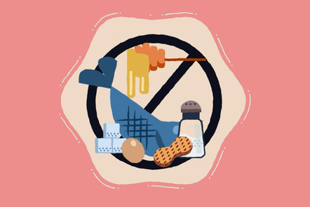 a no salt / no sugar sign