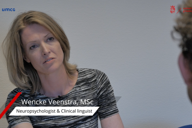 Wencke Veenstra, neuropsychologist who is assessing the patient preoperatively