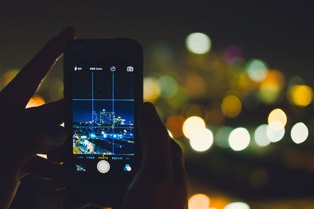 A skyline through a camera phone