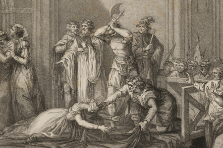 Engraving of the execution of Mary Queen of Scots