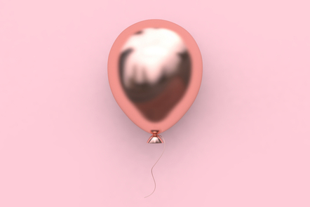 A pink balloon on a pink background