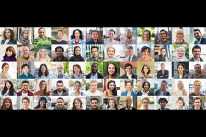 Collage of headshots of people around the world exemplifying diversity