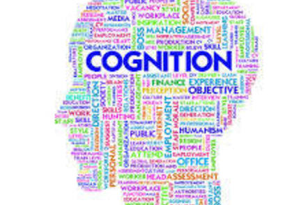 words in the shape of a head with cognition in larger font