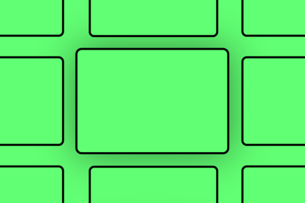 An icon that looks like blank storyboard boxes on a green background