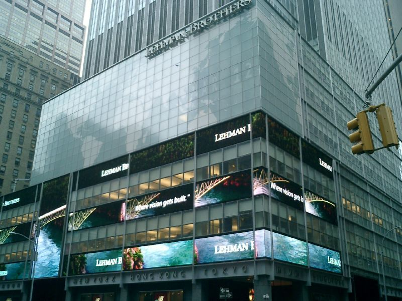Exterior of Lehman Brothers building