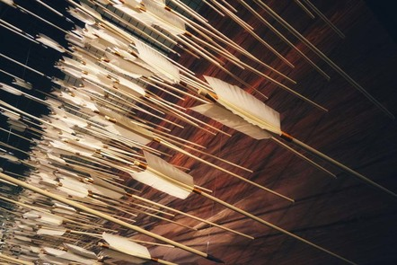 Lots of arrows in rows and in a large group.