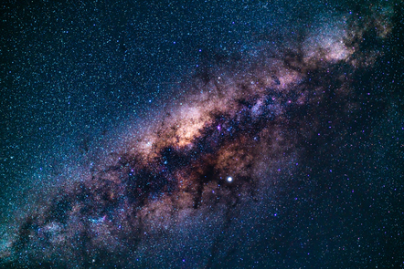 Depiction of the milky way