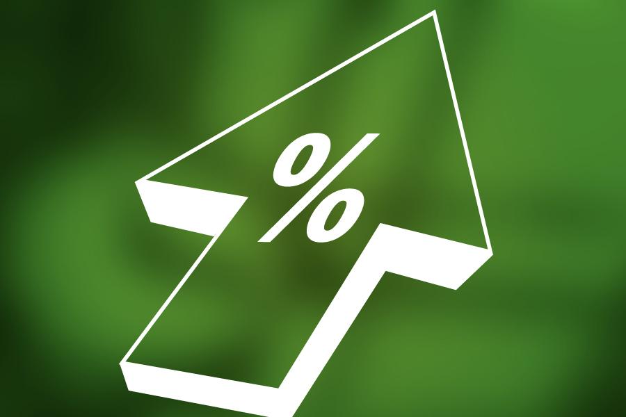arrow percentage up