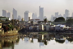 Squalor, smog, pollution and high-rise in Manila, the Philippines