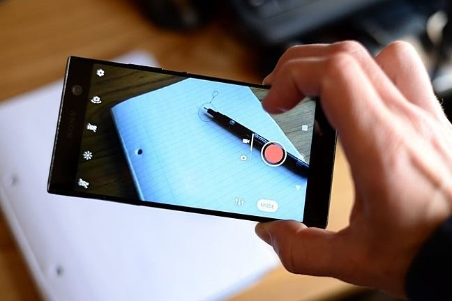 Making a video using a mobile phone