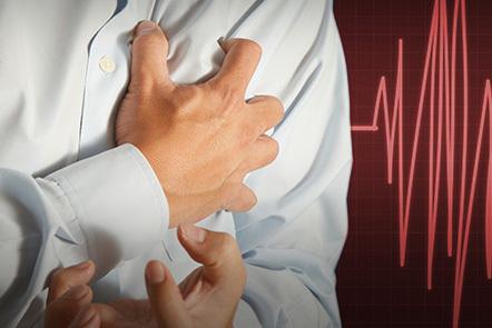 A person suffering a heart attack.