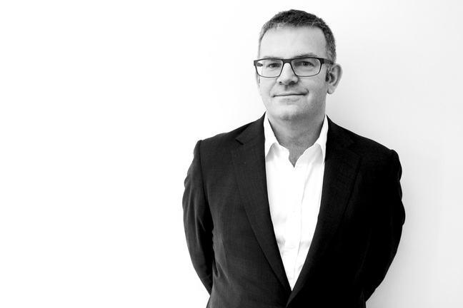 Photograph of Professor Mark Emberton in black and white